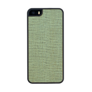 The Look of Seafoam Blue Gauze Weave Texture Wood Phone Case For iPhone SE/5/5s