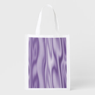 The Look of Smooth Lavender Satin Fabric in Folds Reusable Grocery Bag