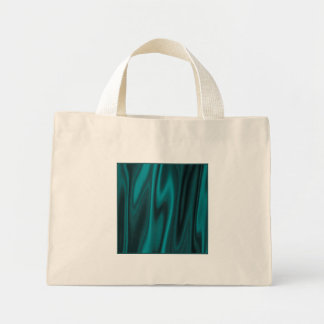 The Look of Smooth Teal Satin Fabric in Folds Mini Tote Bag