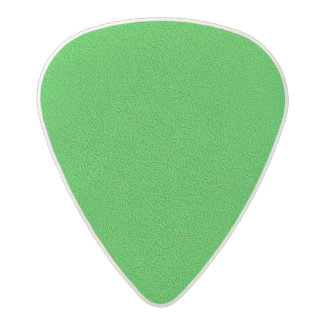 The look of Snuggly Bright Neon Green Suede Acetal Guitar Pick