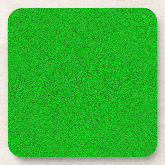 The look of Snuggly Bright Neon Green Suede Coaster