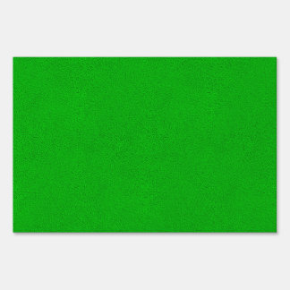 The look of Snuggly Bright Neon Green Suede Lawn Sign
