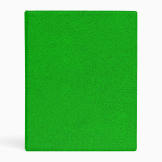 The look of Snuggly Bright Neon Green Suede Mini Binder