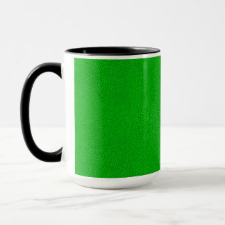 The look of Snuggly Bright Neon Green Suede Mug