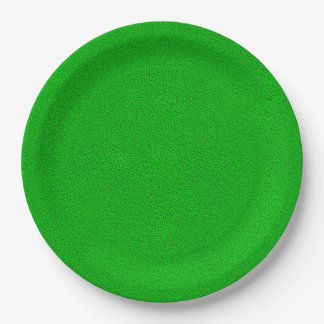 The look of Snuggly Bright Neon Green Suede Paper Plate