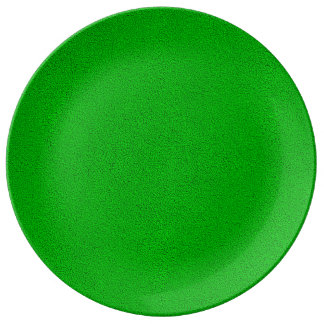 The look of Snuggly Bright Neon Green Suede Porcelain Plate