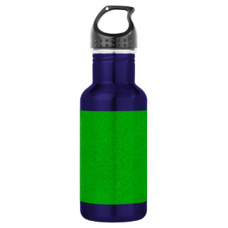 The look of Snuggly Bright Neon Green Suede Stainless Steel Water Bottle