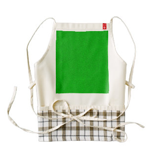 The look of Snuggly Bright Neon Green Suede Zazzle HEART Apron