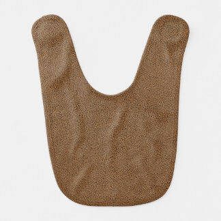 The look of Snuggly Coffee Brown Suede Texture Bib