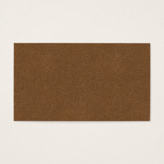 The look of Snuggly Coffee Brown Suede Texture Business Card