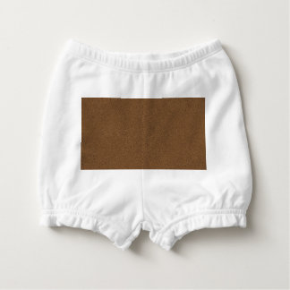The look of Snuggly Coffee Brown Suede Texture Diaper Cover