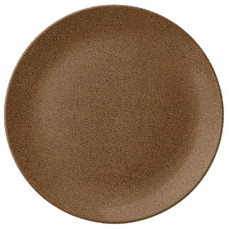 The look of Snuggly Coffee Brown Suede Texture Dinner Plate