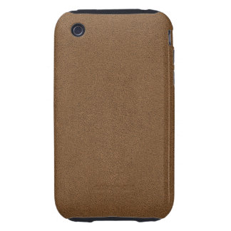 The look of Snuggly Coffee Brown Suede Texture iPhone 3 Tough Cover