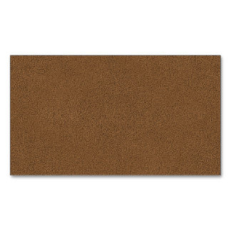 The look of Snuggly Coffee Brown Suede Texture Magnetic Business Card