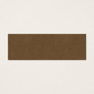 The look of Snuggly Coffee Brown Suede Texture Mini Business Card