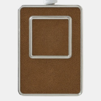 The look of Snuggly Coffee Brown Suede Texture Ornament