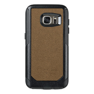 The look of Snuggly Coffee Brown Suede Texture OtterBox Samsung Galaxy S7 Case