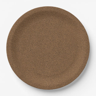 The look of Snuggly Coffee Brown Suede Texture Paper Plate