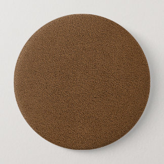 The look of Snuggly Coffee Brown Suede Texture Pinback Button