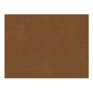 The look of Snuggly Coffee Brown Suede Texture Postcard
