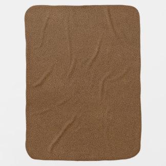 The look of Snuggly Coffee Brown Suede Texture Receiving Blanket