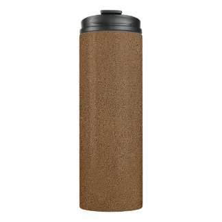 The look of Snuggly Coffee Brown Suede Texture Thermal Tumbler