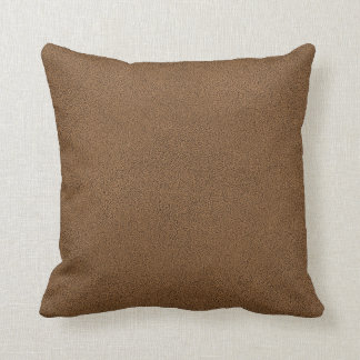 The look of Snuggly Coffee Brown Suede Texture Throw Pillow
