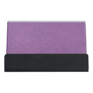 The look of Snuggly French Lilac Lavender Suede Desk Business Card Holder