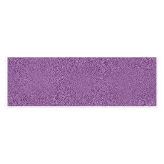The look of Snuggly French Lilac Lavender Suede Mini Business Card