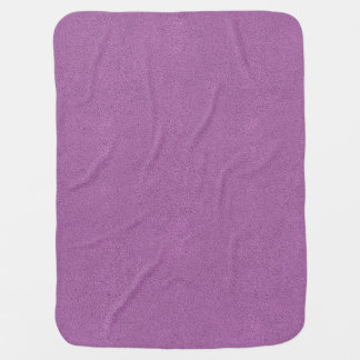 The look of Snuggly French Lilac Lavender Suede Receiving Blanket