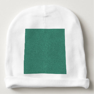 The look of Snuggly Jade Green Teal Suede Texture Baby Beanie
