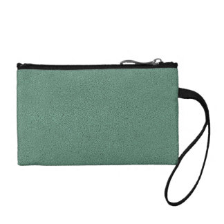 The look of Snuggly Jade Green Teal Suede Texture Change Purse