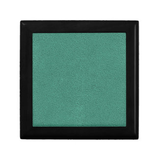 The look of Snuggly Jade Green Teal Suede Texture Keepsake Box