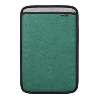 The look of Snuggly Jade Green Teal Suede Texture MacBook Air Sleeve