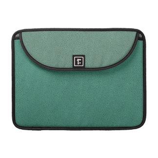 The look of Snuggly Jade Green Teal Suede Texture MacBook Pro Sleeve