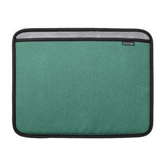 The look of Snuggly Jade Green Teal Suede Texture MacBook Sleeve