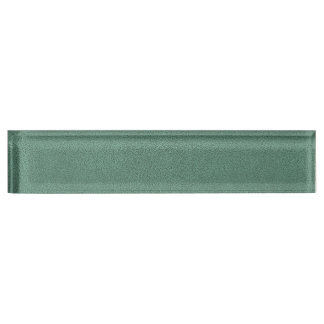 The look of Snuggly Jade Green Teal Suede Texture Name Plate