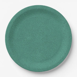 The look of Snuggly Jade Green Teal Suede Texture Paper Plate