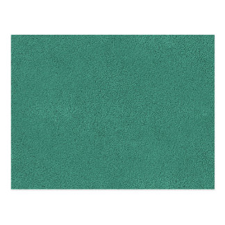 The look of Snuggly Jade Green Teal Suede Texture Postcard
