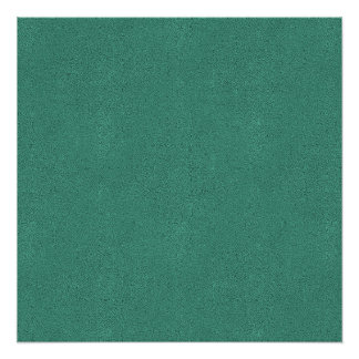 The look of Snuggly Jade Green Teal Suede Texture Poster