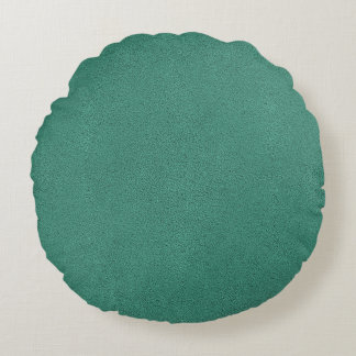 The look of Snuggly Jade Green Teal Suede Texture Round Pillow