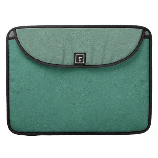 The look of Snuggly Jade Green Teal Suede Texture Sleeve For MacBook Pro