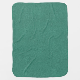 The look of Snuggly Jade Green Teal Suede Texture Stroller Blanket