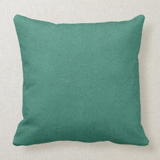 The look of Snuggly Jade Green Teal Suede Texture Throw Pillow