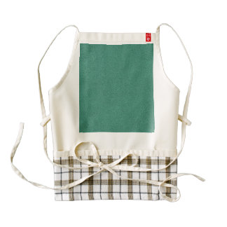 The look of Snuggly Jade Green Teal Suede Texture Zazzle HEART Apron