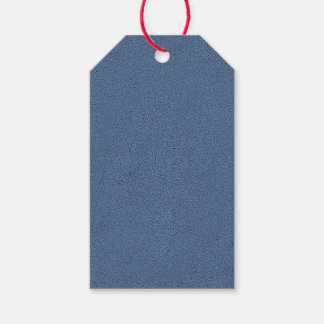 The look of Snuggly Slate Blue Suede Texture Gift Tags