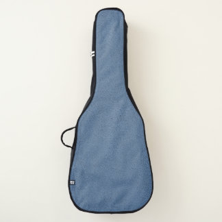 The look of Snuggly Slate Blue Suede Texture Guitar Case