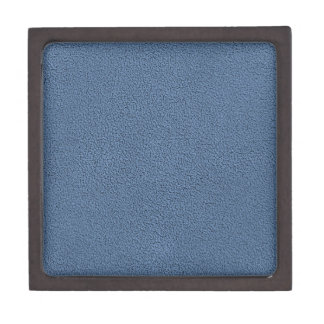 The look of Snuggly Slate Blue Suede Texture Jewelry Box