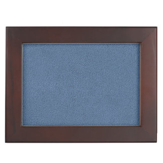 The look of Snuggly Slate Blue Suede Texture Keepsake Box