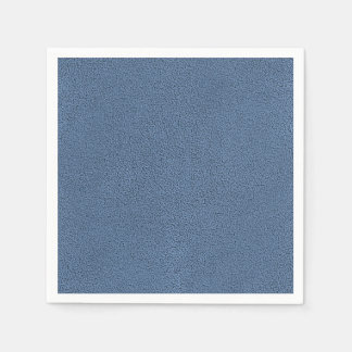 The look of Snuggly Slate Blue Suede Texture Paper Napkin